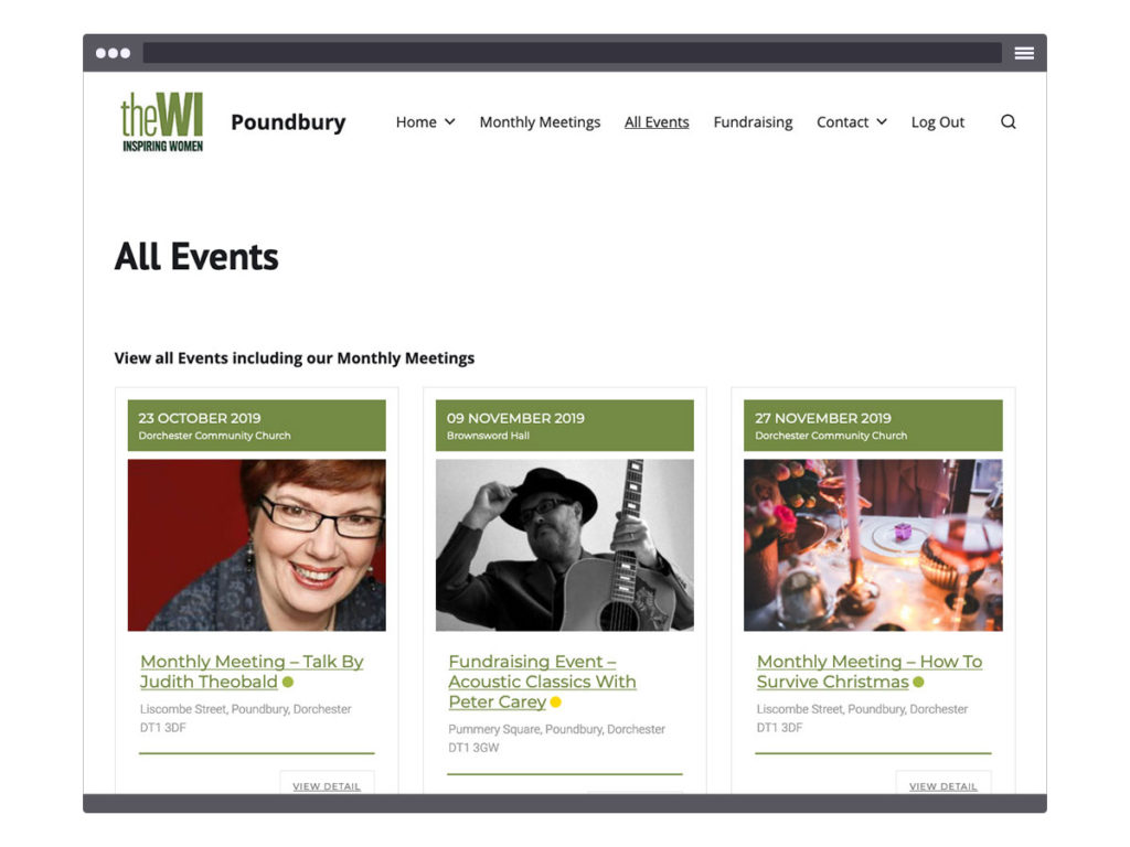 Poundbury WI ~ Events Page