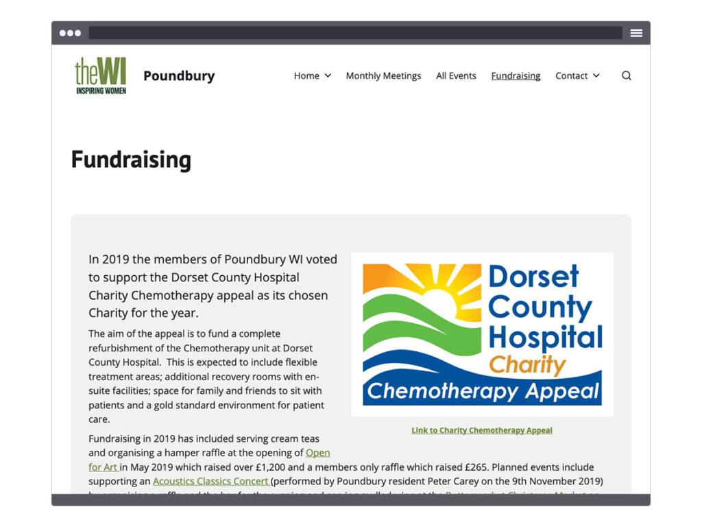 Poundbury WI ~ Fundraising Page