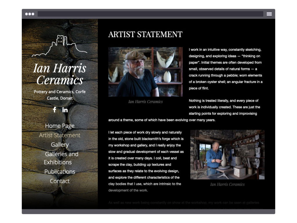 Ian Harris Ceramics - Artists Statement