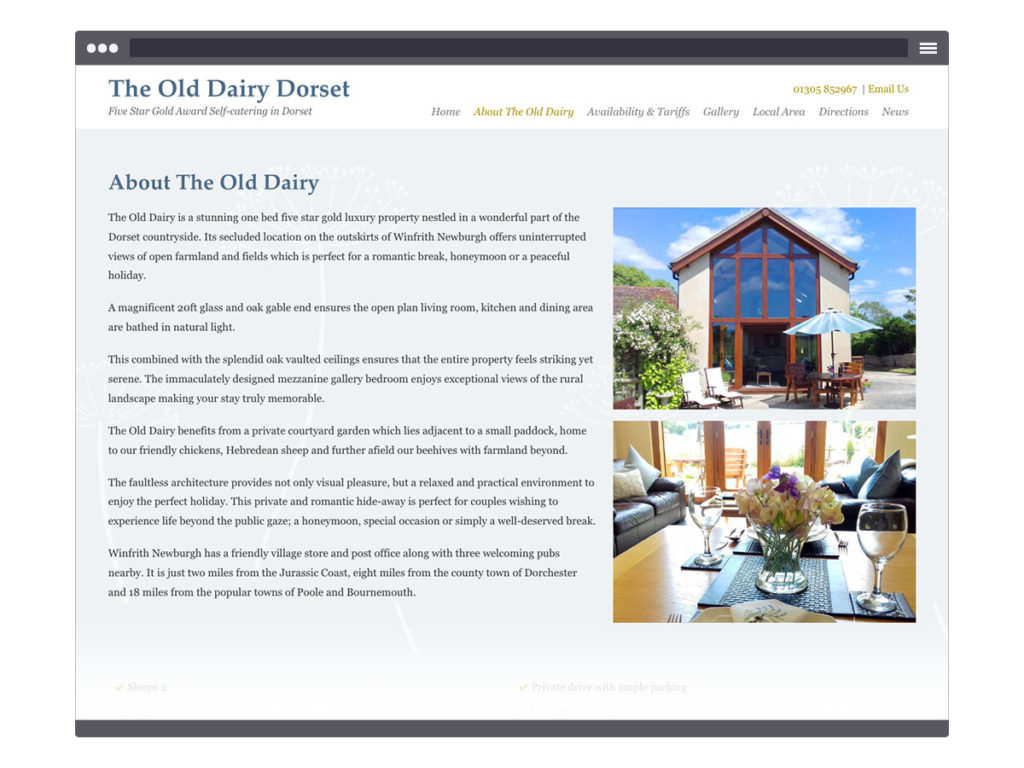 The Old Dairy Dorset ~ About Page